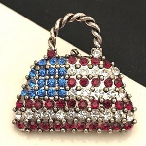 American Flag Purse Pin Brooch Patriotic 1D